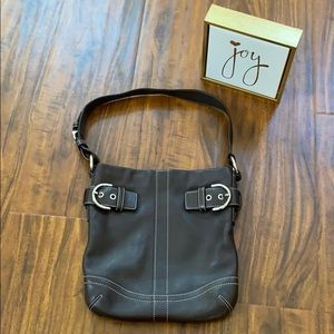 Coach Brown Leather HoBo Handbag